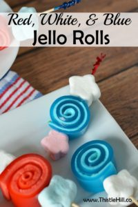 Red White and Blue Jello Rolls - Thistle Hill