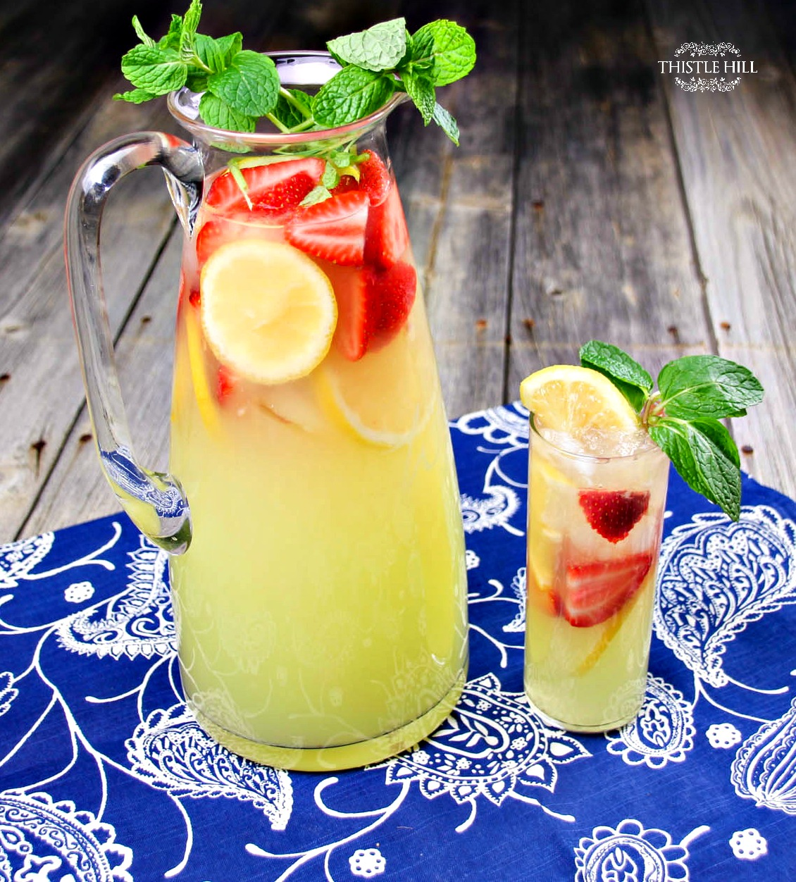 Hard Strawberry Lemonade Punch Cocktail Recipe - Thistle Hill