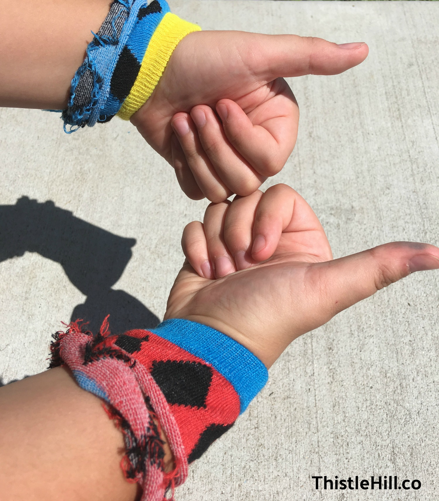 Easy Kids Craft Recycled Bracelets - Thistle Hill