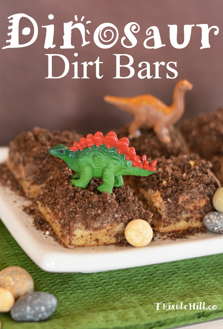 Dinosaur Dirt Bars Recipe - Thistle Hill