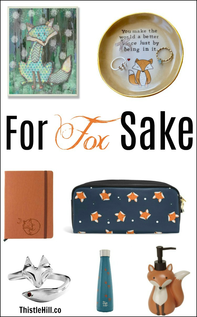 Unique Fox Gifts that Will Make You Say For Fox Sake - Thistle Hill