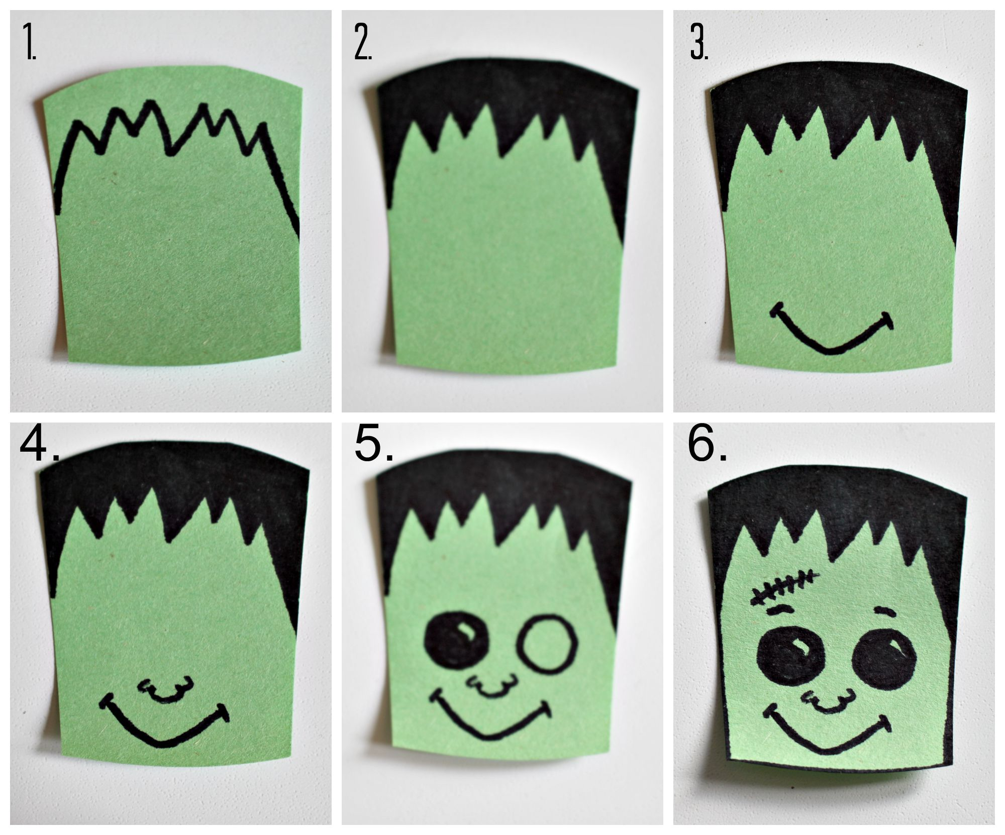 Frankenstein Halloween Treat Baskets - Thistle Hill